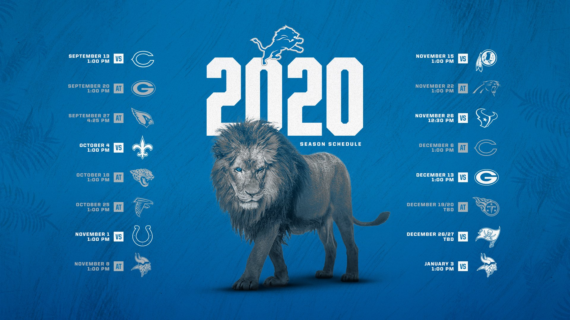Detroit Lions Schedule 2020: TV Schedule, Early Odds Revealed For Each Game